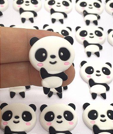 Aplique Emborrachado - Panda - 2 Unidades