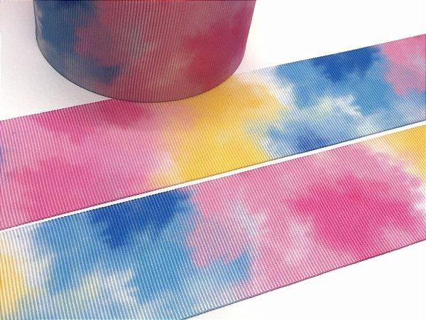 Fita de Gorgurão Estampada - Tie Dye Candy - Progresso - 38mm