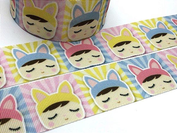 Fita de Gorgurão Estampada - Metoo Cores Candy - Artfitas - 38mm