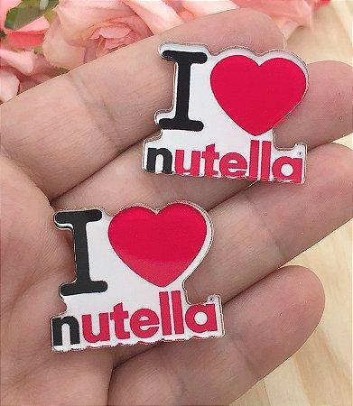 Aplique de Acrílico - I Love Nutella - 2 Unidades
