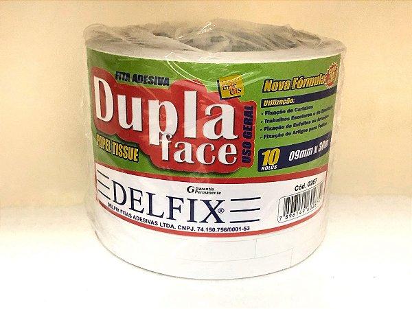 Fita Dupla Face - Delfix - 9mm - Rolo com 30 metros