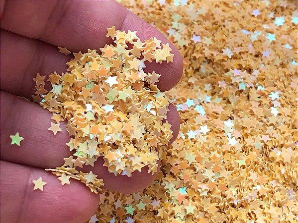 Micro Estrelinhas - Amarelas Candy - Pacote com 10 gramas