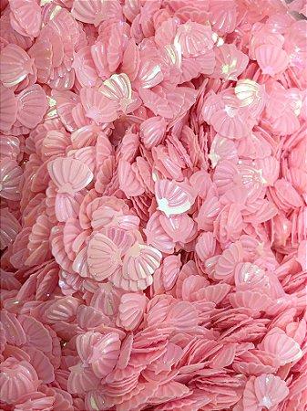 Micro Conchinhas para Laços - Rosa Claro - Pacote 10 gramas