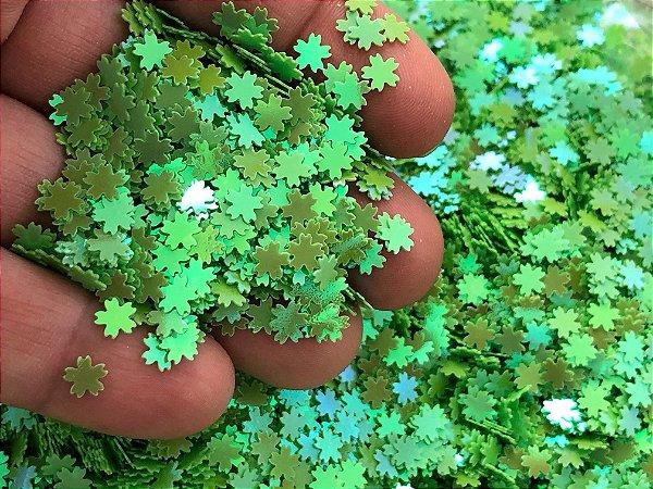 Micro Florzinhas - Verde Vivo - Pacote 10 gramas