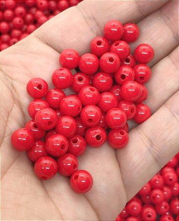 Bolinha Leitosa - Vermelha - 8mm - 30 gramas