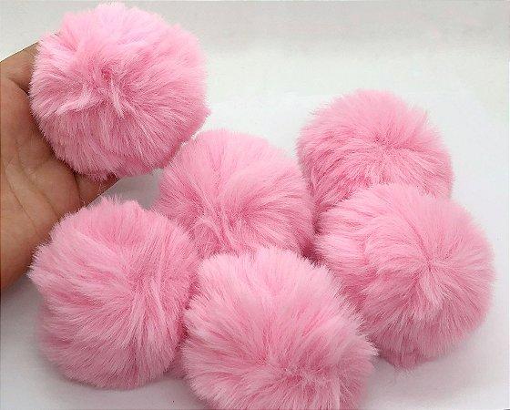 Pompom Bola Grande - Rosa Claro - 8cm - Unidade