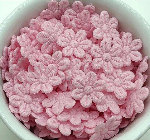Florzinha de Tecido Pequena - Rosa Claro - 20 unidades