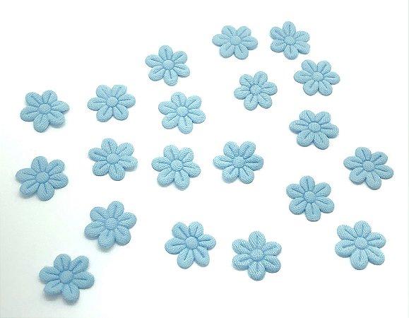 Florzinha de Tecido Pequena - Azul Claro - 20 unidades