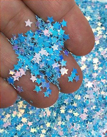 Micro-Apliques - Estrelinhas Azuis - Pacote 10 gramas