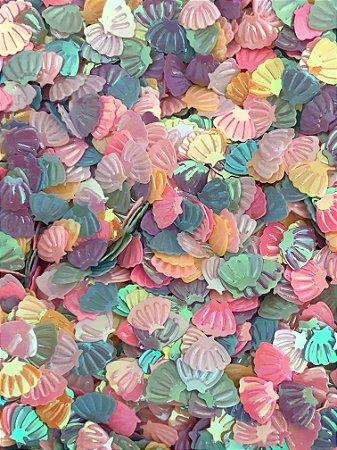 Micro Conchinhas - Sortidas - Pacote 10 gramas