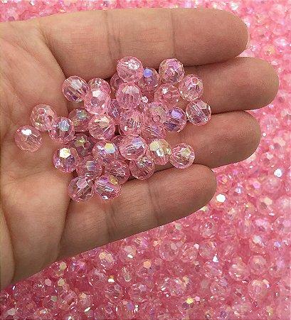Bolinha Globinho - Rosa Claro Cristal - Pacote 30 gramas