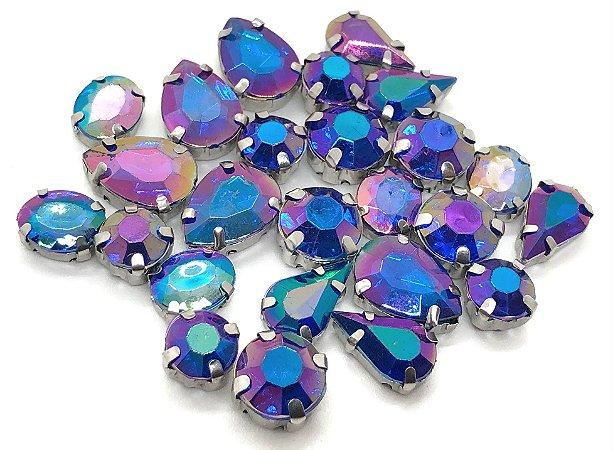 Kit Variado Engrampados - Azul Furtacor - 25 peças