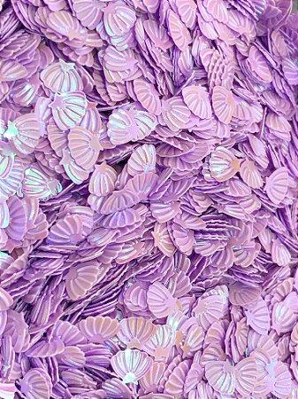 Micro Conchinhas para Laços - Lilás - Pacote 10 gramas