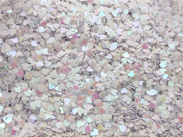 Micro Corações - Branco - Pacote 10 gramas