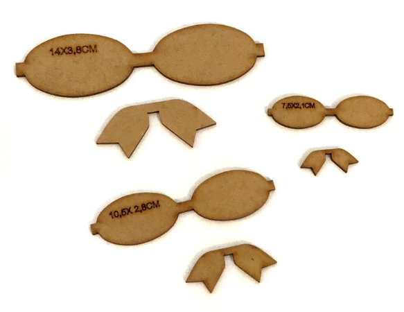 Kit de Gabaritos para Laços Lonita com Spike - 6 peças