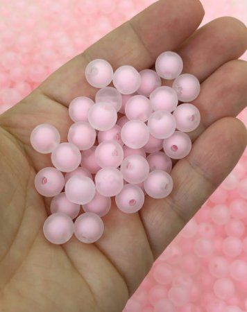 Bolinha Fosca - Rosa Claro - 10mm - 30 gramas