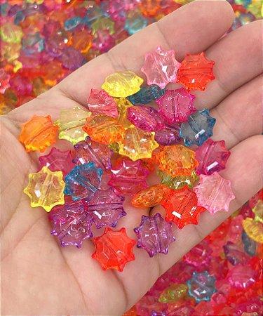 Miçanga Estrelada Colorida - Pacote 20 gramas