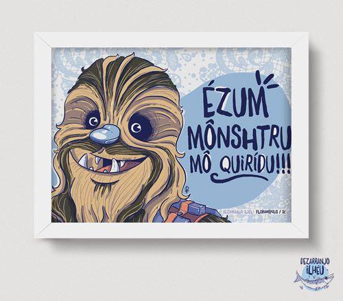 Quadrinho Chewbacca