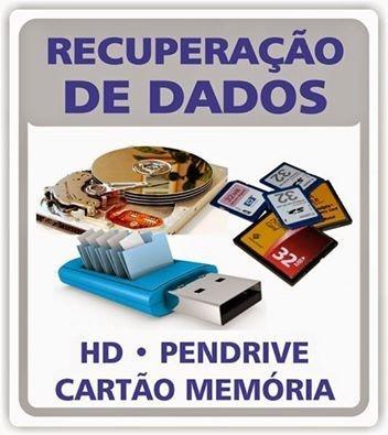 Recuperação de dados em Hds pendrives cartão de memoria