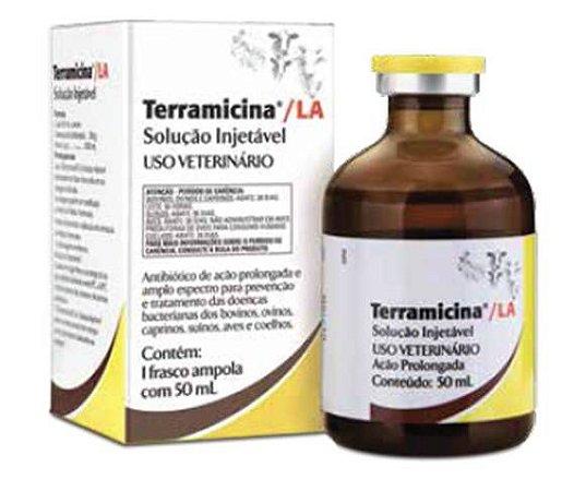 Terramicina LA -Solução Injetável - Zoetis 50 ML.