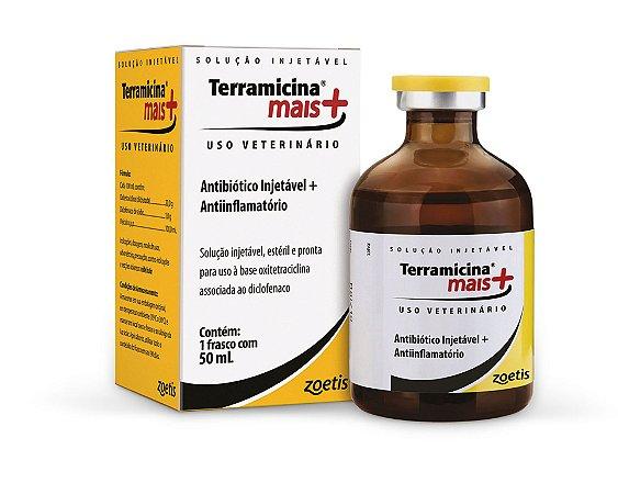 Terramicina Mais - Solução Injetável - Zoetis 50 ML.