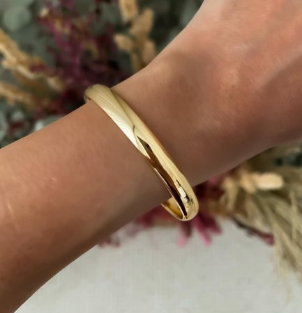 Bracelete Liso Isa Baldo Dourado