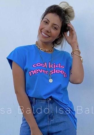 T-shirt Isa Baldo Azul