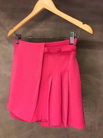 Shorts Saia Drapeado Isa Baldo Pink