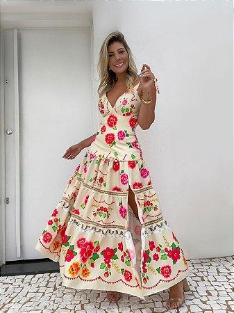 Vestido Midi Floral Isa Baldo