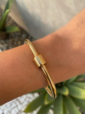 Bracelete Oval Isa Baldo Dourado