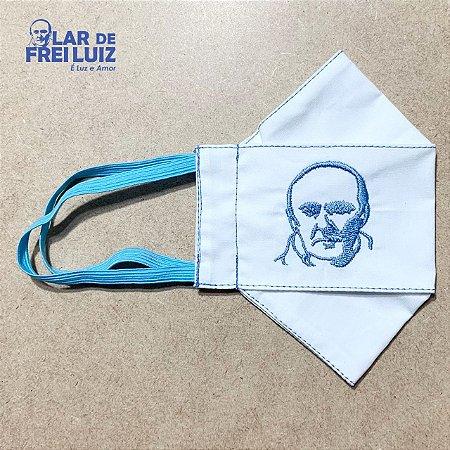 Máscara personalizada Bordada Frei Luiz azul clara busto - modelo 3D