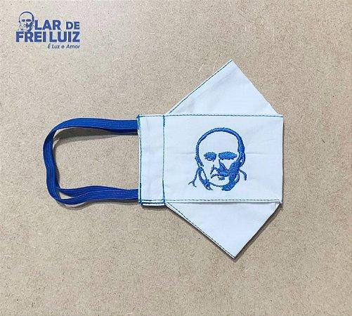Máscara personalizada Bordada Frei Luiz azul royal busto - modelo 3D