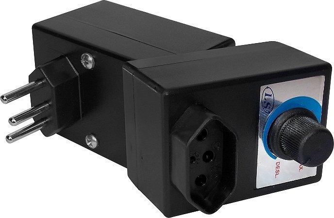 Dimmer Rotativo 1000W Bivolt com Caixa e Tomada para Liquidificador - Cod.403