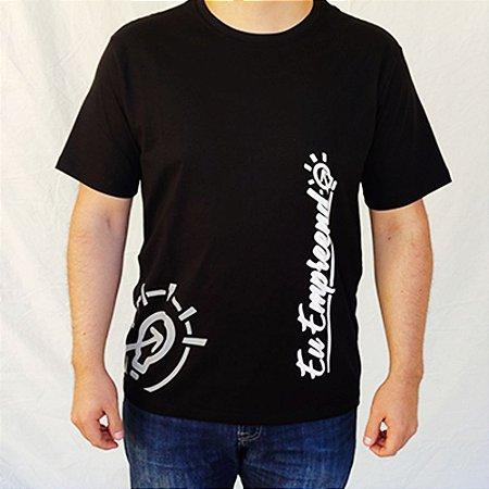 Camiseta Eu Empreendo Masculina Padrão - Preta