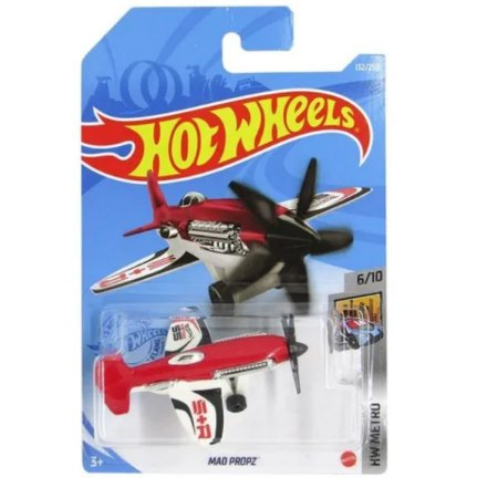 Avião Mad Propz Hot Wheels - Mattel