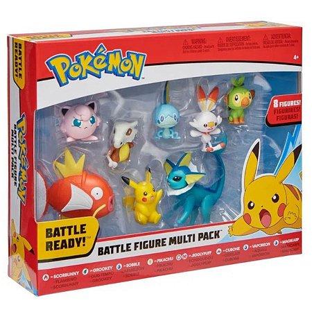 Conjunto de Mini Figuras - Pokémon - 8 Figuras - Sunny