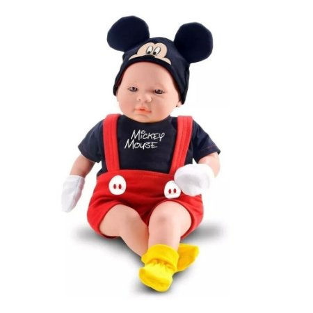 Boneco Mickey Classic Dolls Recém Nascido Roma 48cm