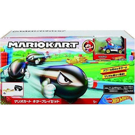 Hot Wheels Mario Kart Lançador Bullet Bill Mattel