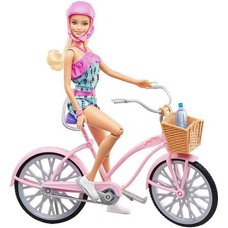 Boneca com Bicicleta Barbie