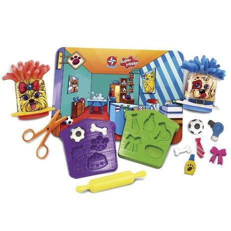 Massinha de Modelar Super Massa Pet Shop Brinquedos Estrela