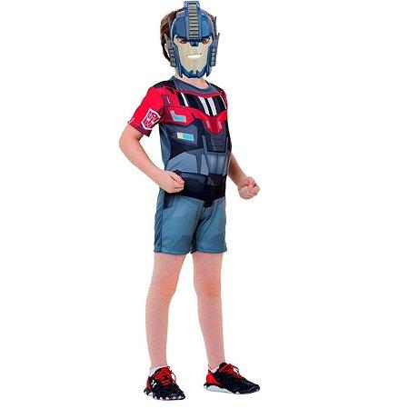 Fantasia Optimus Prime Infantil Curto - Transformers 4 tamanho M 6 a 8 anos