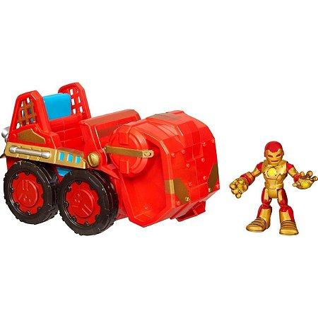 Boneco Com Veiculo Iron Man Sort
