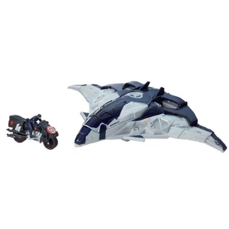 Jato Quinjet Avengers Hasbro Com Motocicleta - Hasbro B0425
