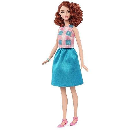 Barbie Fashionista Vestido Verde e Rosa