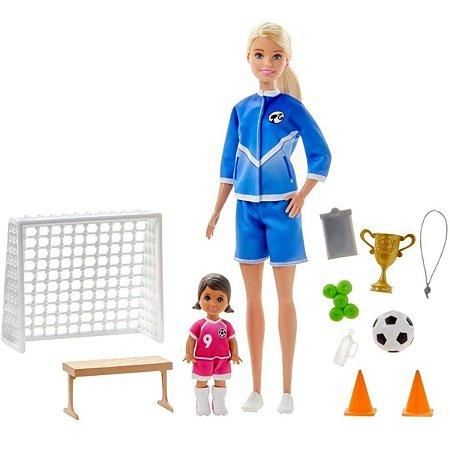 Boneca Barbie Playset Jogadora de Futebol