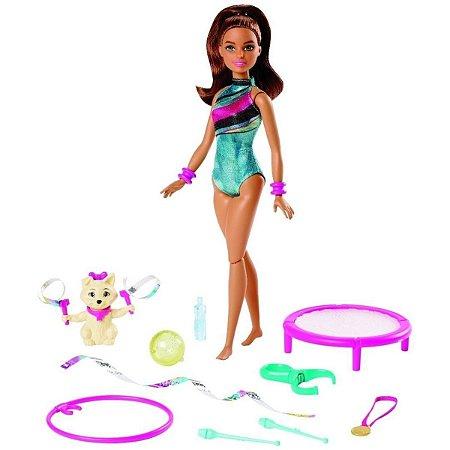 Boneca (o)com Animal E Cama Elastica Barbie Teresa