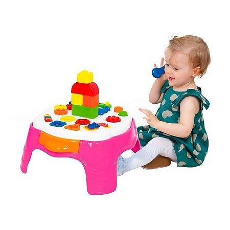 Play Time Mesa Atividades Rosa