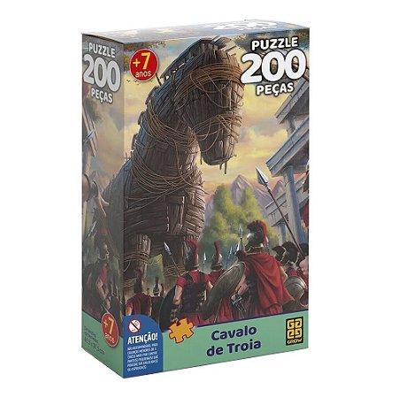 Quebra-cabeça Puzzle P200 peças Cavalo de Troia - Grow