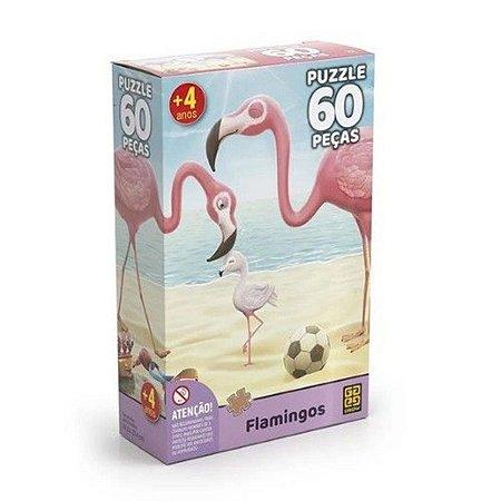 Quebra-Cabeça Flamingos