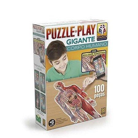 Quebra Cabeça Puzzle Play Corpo Humano Gigante